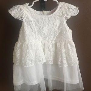 Little Lass white lace shirt blouse